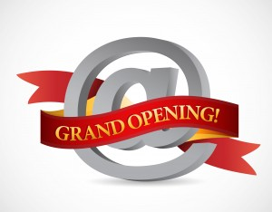 Grand Opening website @ sign